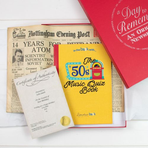 Personalised Original Newspaper and Music Quiz Book